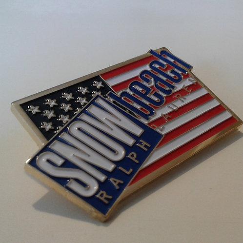 Snow Beach (Original) Flag - Lapel Pin