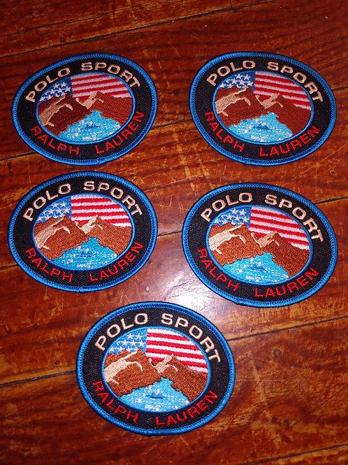 "Vintage ""Polo Sport Mountain River"" Patches (5 Piece Set)"