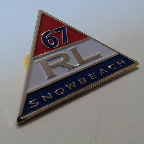 "Snow Beach ""Triangle"" RL 67 Lapel Pin"