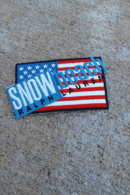 Snow Beach Flag Patch