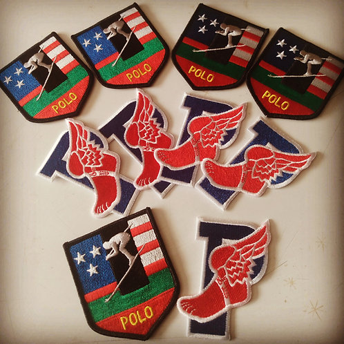 "Vintage ""SPORTSMAN x P WING"" 10 Piece Patch Set"