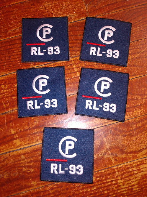 """Vintage Polo """"CP RL-93"""" Patches (5 Piece Set)"""