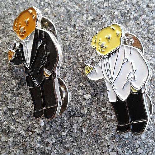 2 Martini Bears (Lapel Pins)