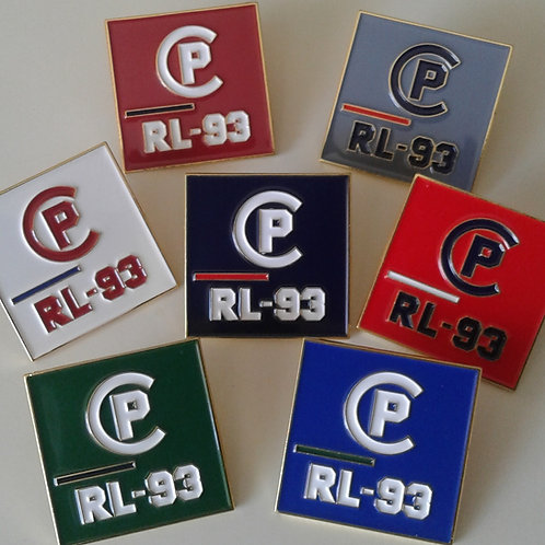 CP RL-93 LAPEL PINS (7 Piece Set) Multi Colors
