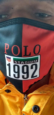 POLO STADIUM 1992 FACE MASK (Navy Blue/Red)