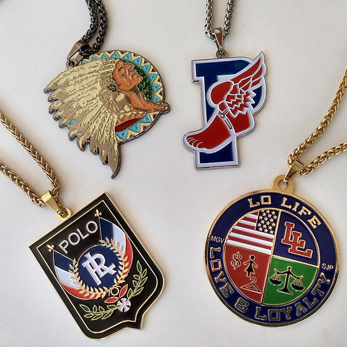 "CHIEF x UNI x P WING x LO LIFE COOKIE ""MEDALLION"" CHAINS (4 PIECE SET)"