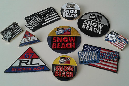 Snow Beach (10 Piece) Patch and Lapel Pin Set