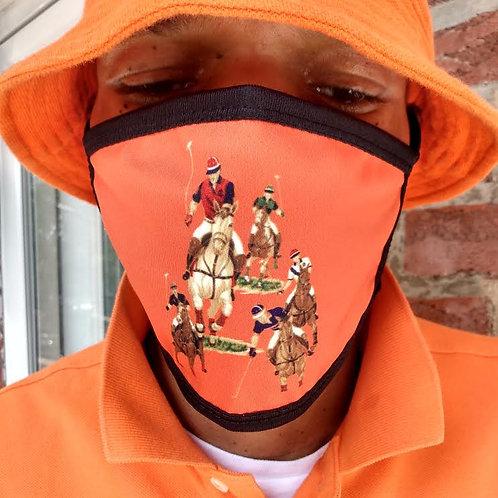 """5 HORSEMAN EQUESTRIAN STAMPEDE """"FACE MASK"""" (Orange)"""