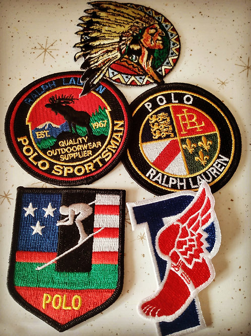 5 Vintage Polo Patches