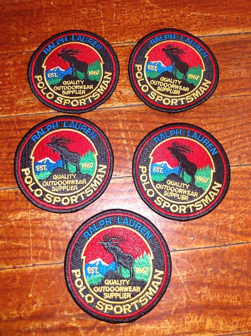 """Vintage Polo """"Sportsman"""" Patches (5 Piece Set)"""