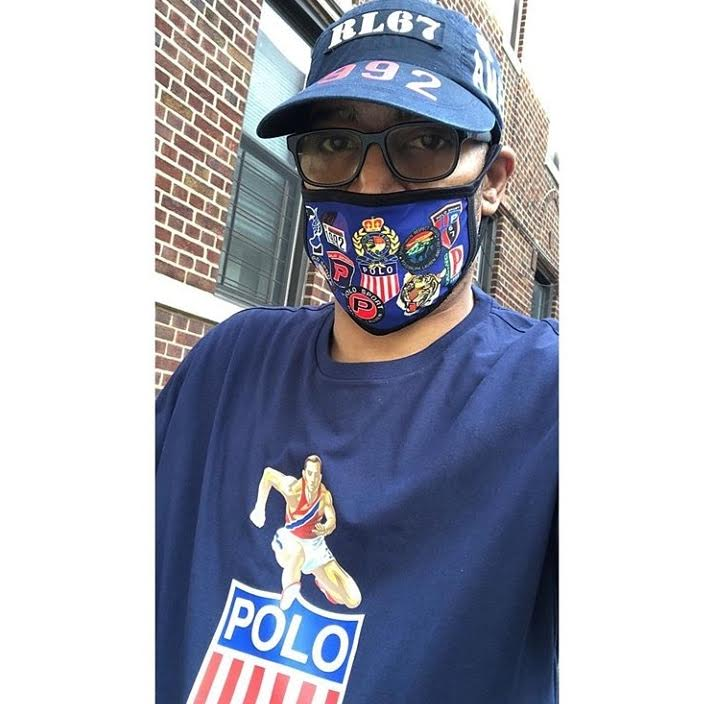 POLO BLUE FACE MASK