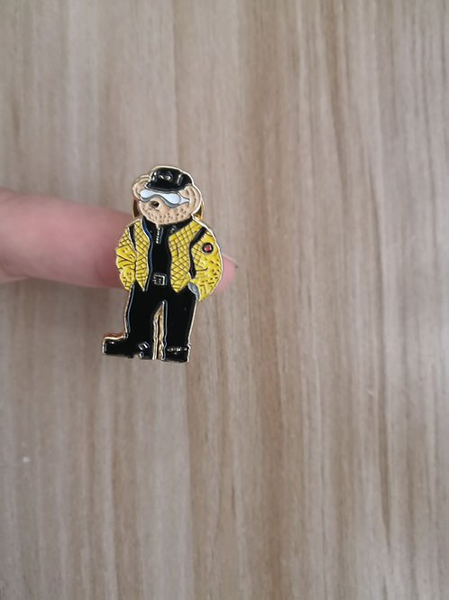 Motor Cycle Bear Lapel Pin