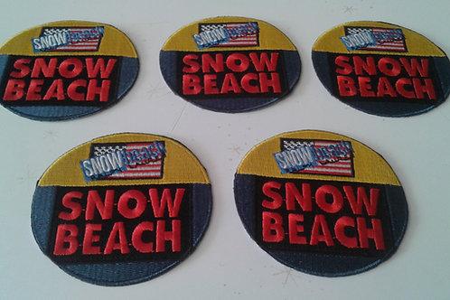 "Vintage ""SNOW BEACH"" 5 PIECE PATCH SET"