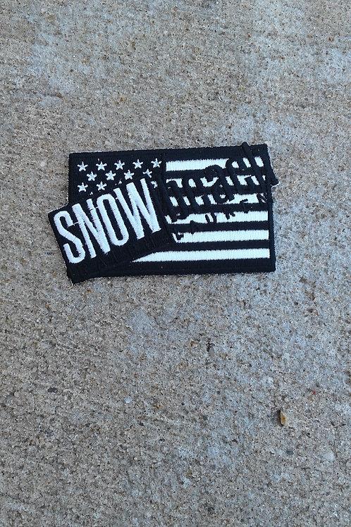 Snow Beack Flag (Black & White)