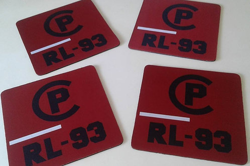 "CP RL-93 ""Mouse Pad"" Red"