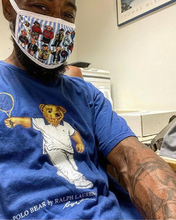 Polo Teddy Bears Face Mask (Pin Stripe)