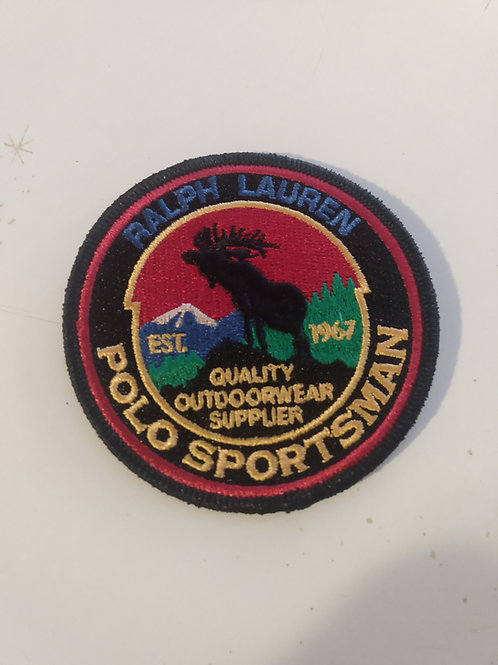 Vintage Polo Ralph Lauren Patch (RESPECT WILDLIFE)  Material: Embroidered Size: