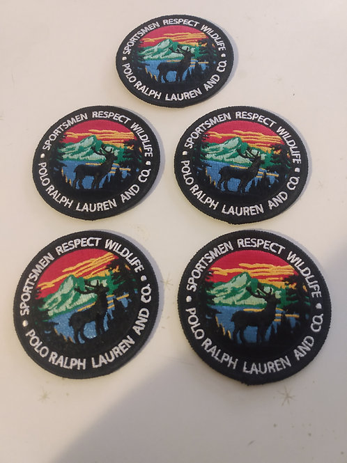 5 Vintage Polo Ralph Lauren Patches (RESPECT WILDLIFE)