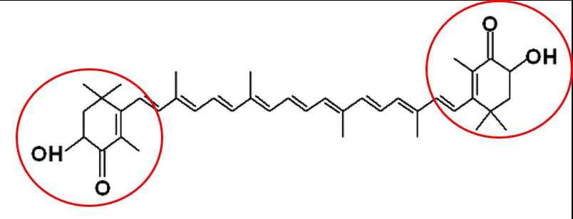 Astaxanthin molecule
