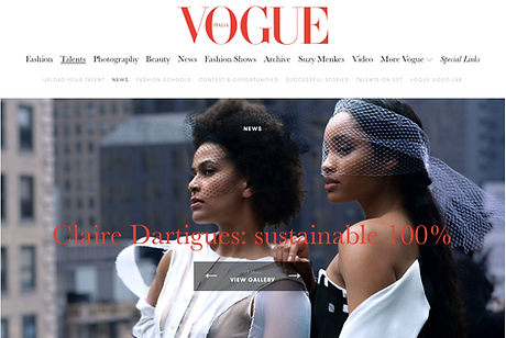 vogue Italie article claire Dartigues