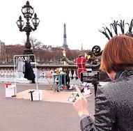 Claire Dartigues - Imagine sur le Pont Alexandre