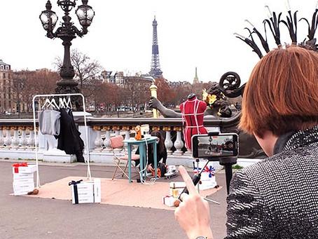 """"""" Imagine si on installait mon atelier sur le Pont Alexandre III ..."""