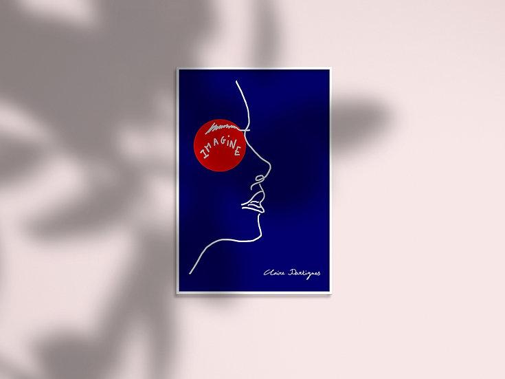 """Affiche """"Des étincelles""""- Visage femme"""