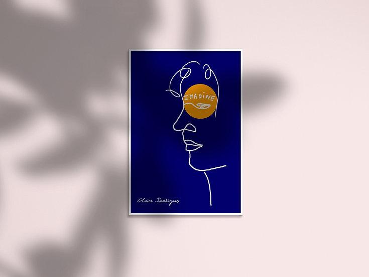 """Affiche """"Des étincelles"""" - Visage homme"""