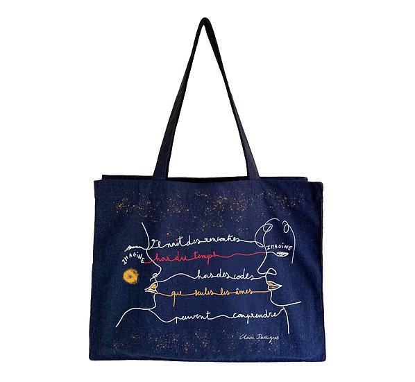 "Maxi tote bag ""The encounter"""