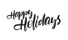 Happy holiday's word art