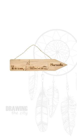 Pancarte bois Marseille