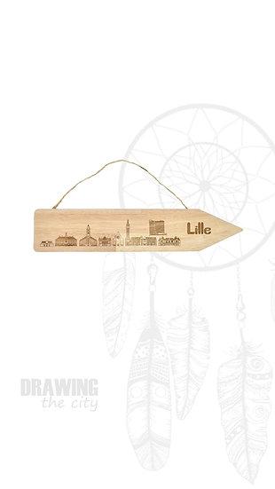Pancarte bois Lille