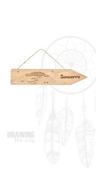 Pancarte bois Sancerre