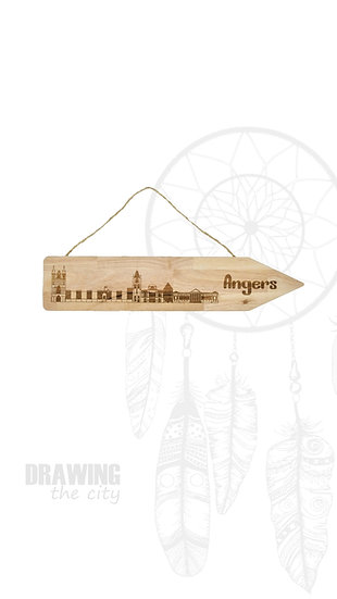 Pancarte bois Angers