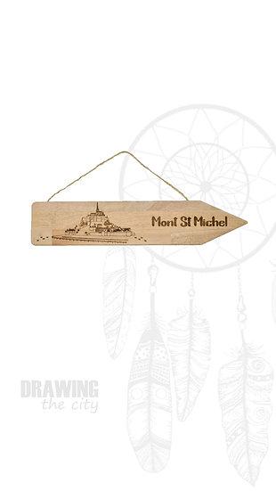 Pancarte bois Mont St Michel