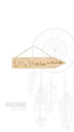 Pancarte bois La Rochelle