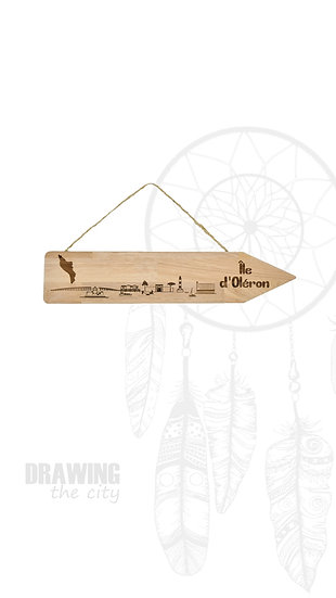 Pancarte bois Ile d'Oléron