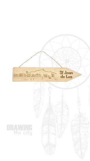 Pancarte bois St Jean de Luz