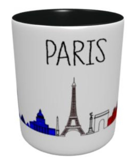 Mug - Fresque Paris - Bleu Blanc Rouge