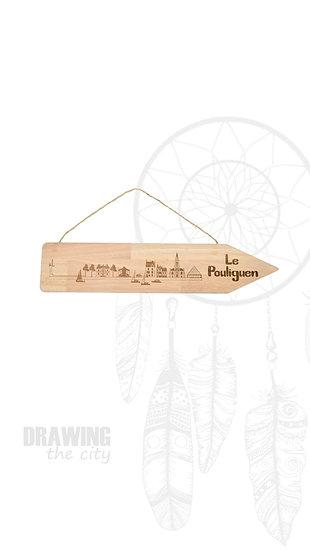 Pancarte bois Le Pouliguen