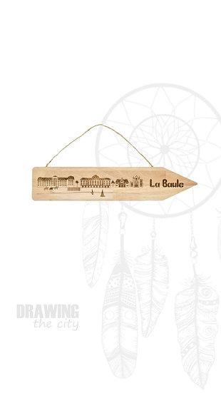 Pancarte bois La Baule