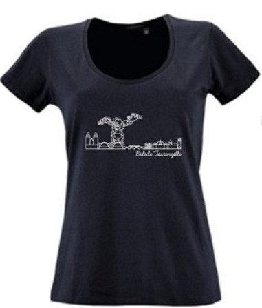 T-shirt femme Balade Tourangelle - Bleu marine