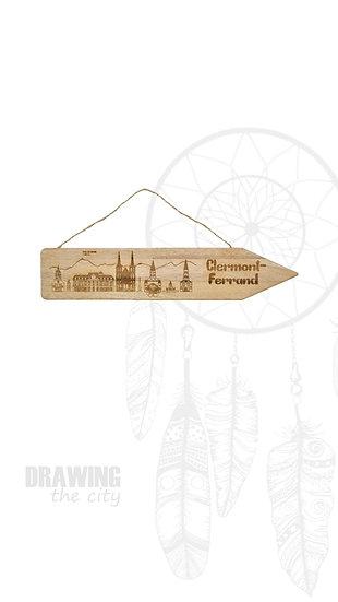 Pancarte bois Clermont-Ferrand