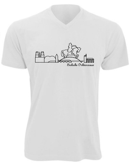 T-shirt homme Balade Orléanaise - Blanc