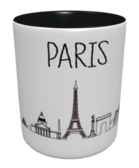 Mug - Fresque Paris - Noir et Gris