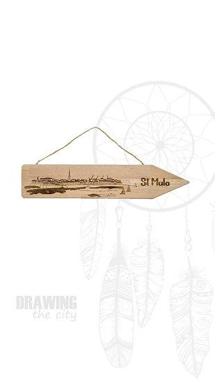 Pancarte bois St Malo
