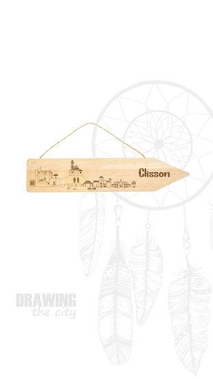 Pancarte bois Clisson