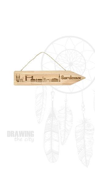Pancarte bois Bordeaux