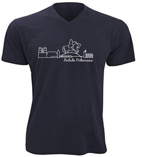 T-shirt homme Balade Orléanaise - Bleu marine