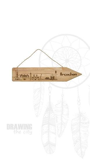 Pancarte bois Arcachon